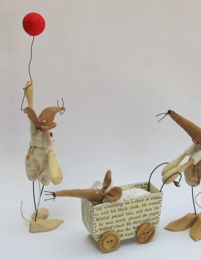 Kate Toms - Mixed Media Mice Family