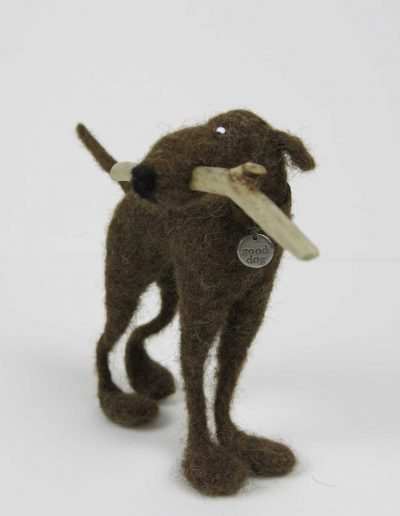 Kate Toms - Mixed Media Dog and Stick