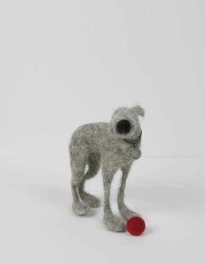 Kate Toms - Mixed Media Dog and Ball